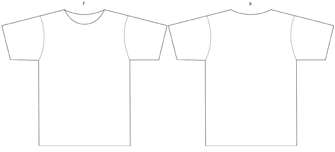 Related Keywords & Suggestions for Blank T Shirt Template Back